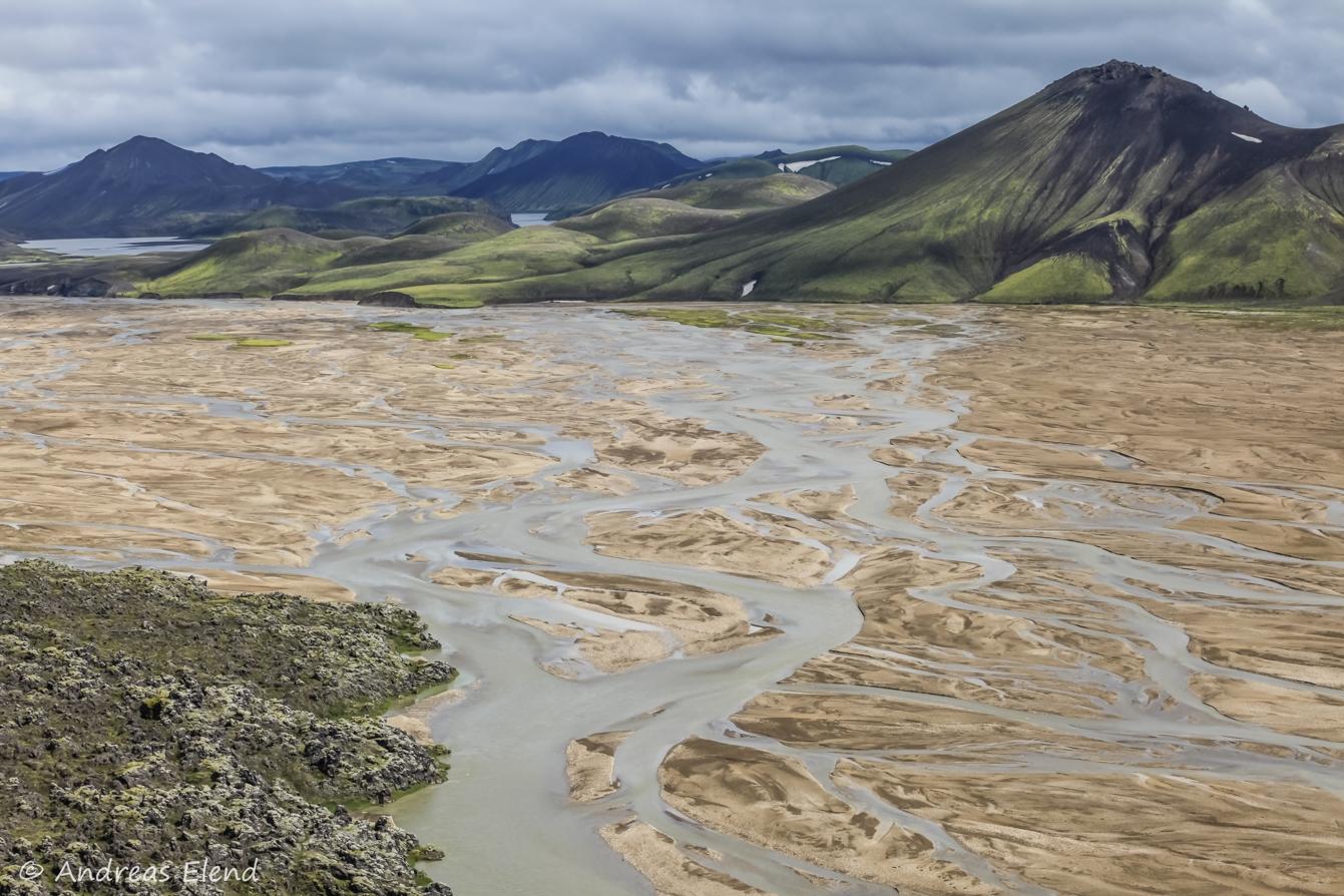 Landmannalaugar: freie Flußentfaltung