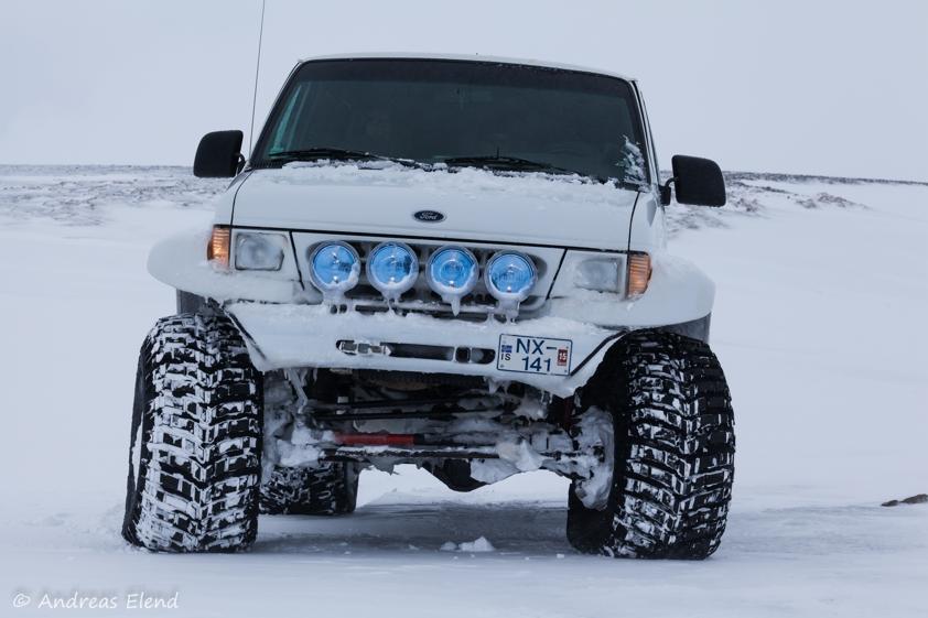 Jeep im Hochland
