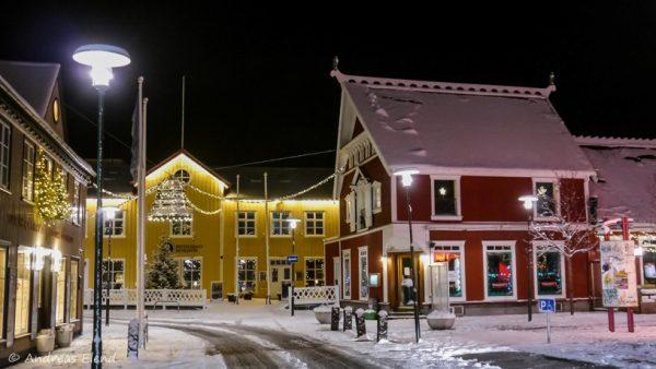 Reykjavik Altstadt zu Weihnachten